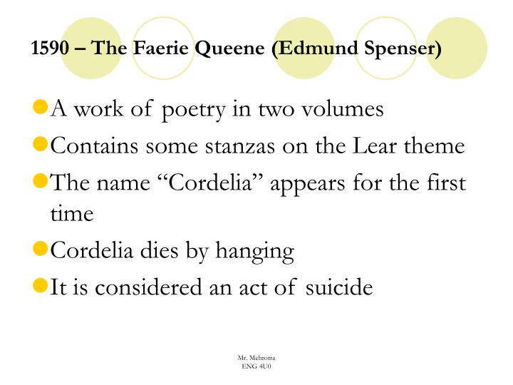 1590 – The Faerie Queene (Edmund Spenser)