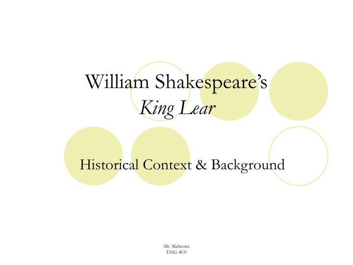 William shakespeare s king lear