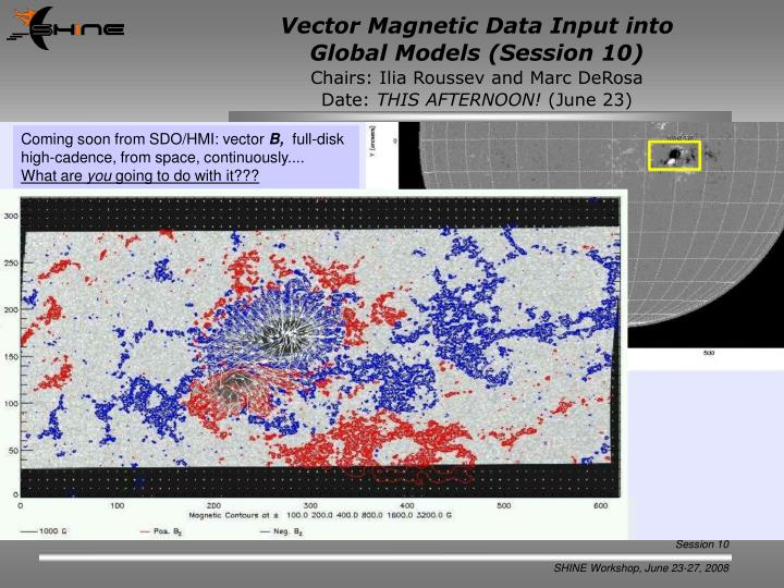 Vector Magnetic Data Input into