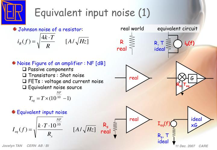 Equivalent input noise (1)