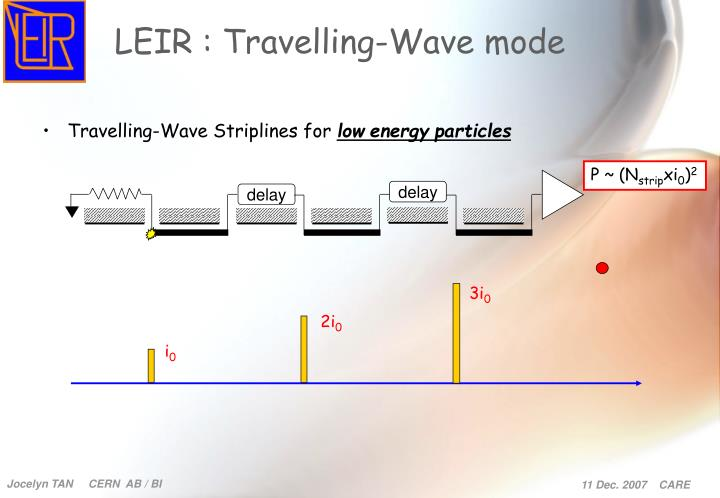 LEIR : Travelling-Wave mode
