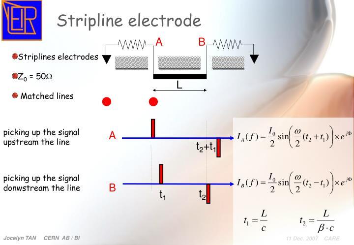 Stripline electrode