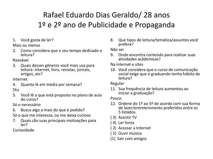 Rafael Eduardo Dias Geraldo/