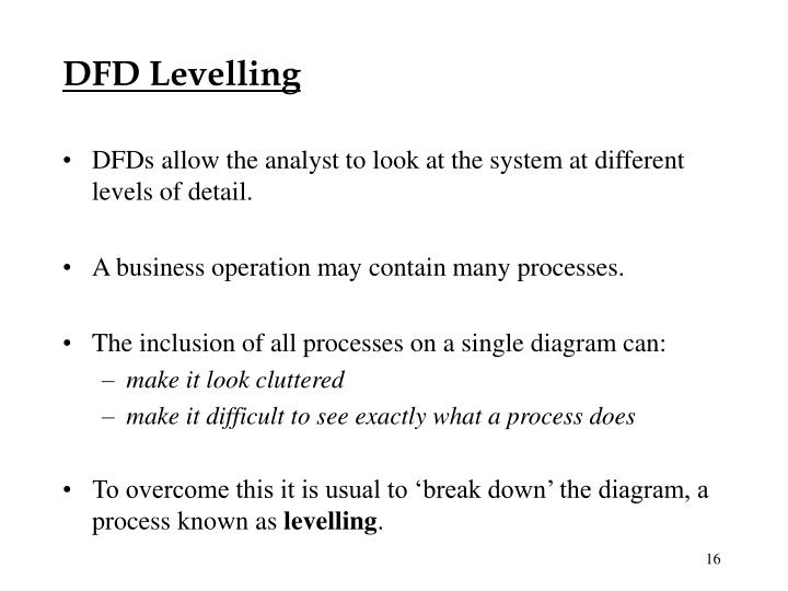 DFD Levelling