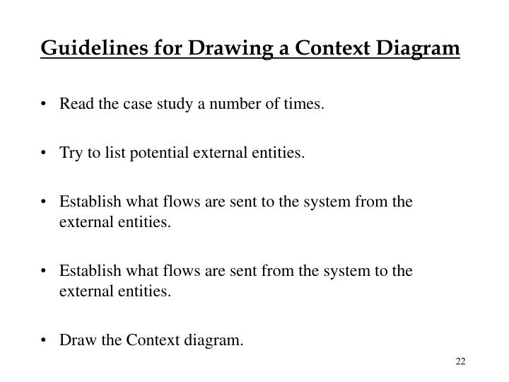 Guidelines for Drawing a Context Diagram