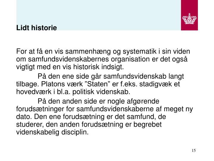 Lidt historie