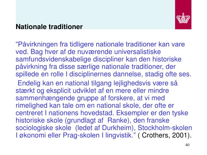 Nationale traditioner