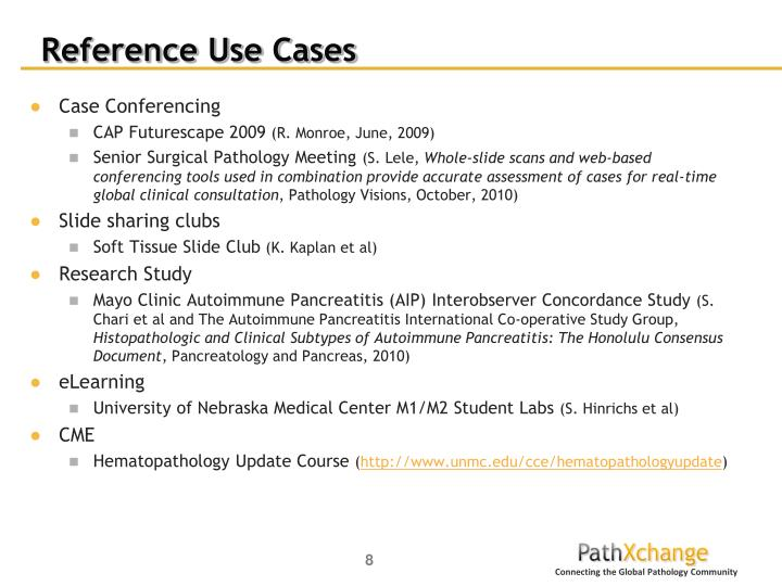Reference Use Cases