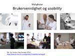 muligheter brukervennlighet og usability3