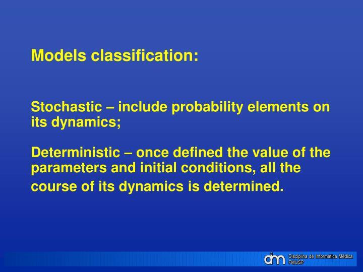 Models classification: