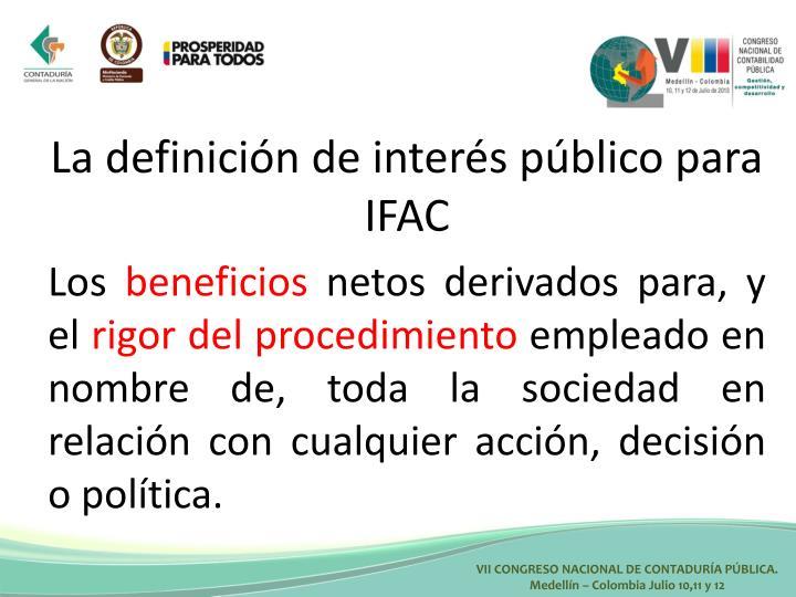 La definición de interés público para