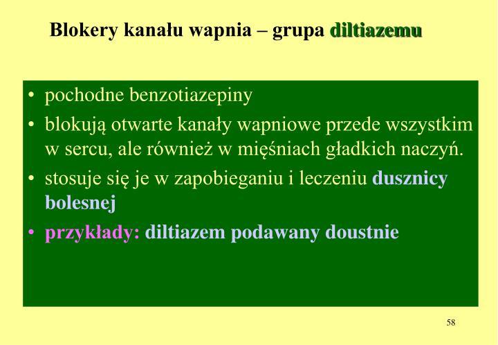 Blokery kanału wapnia – grupa
