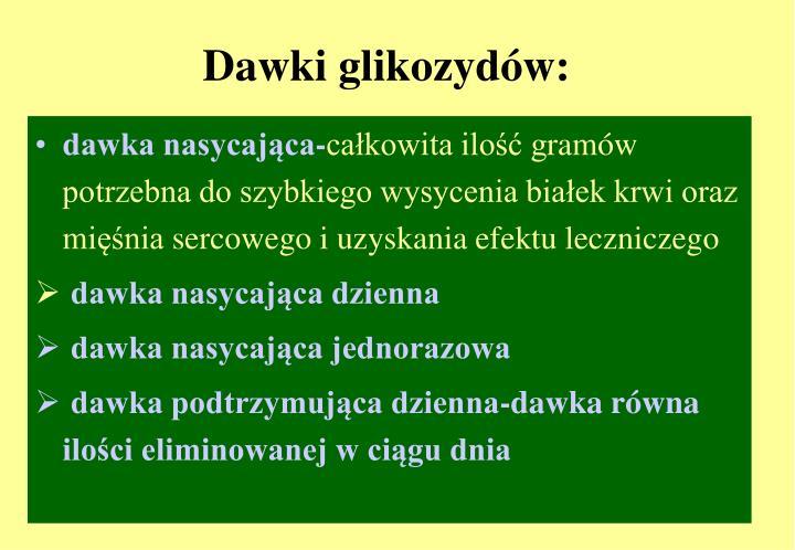 Dawki glikozydów: