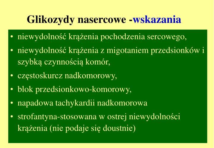 Glikozydy nasercowe -