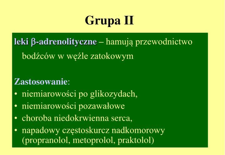Grupa II