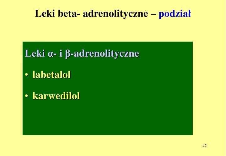 Leki beta- adrenolityczne –