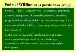 podzia williamsa 4 podstawowe grupy2