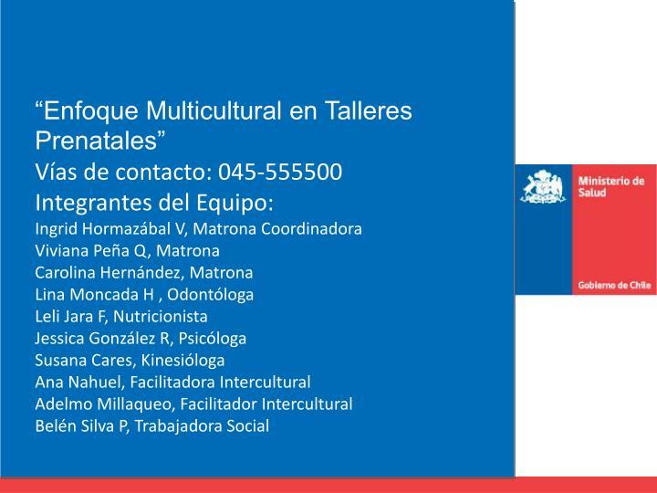 """""""Enfoque Multicultural en Talleres Prenatales"""""""