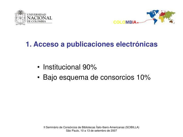 1. Acceso a publicaciones electrónicas