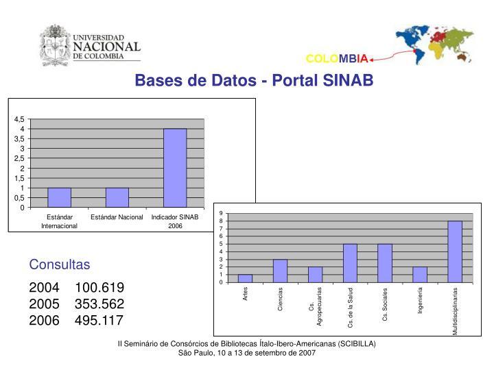 Bases de Datos - Portal SINAB
