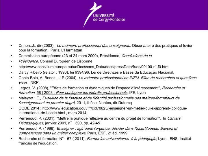Crinon.,J., dir (2003),