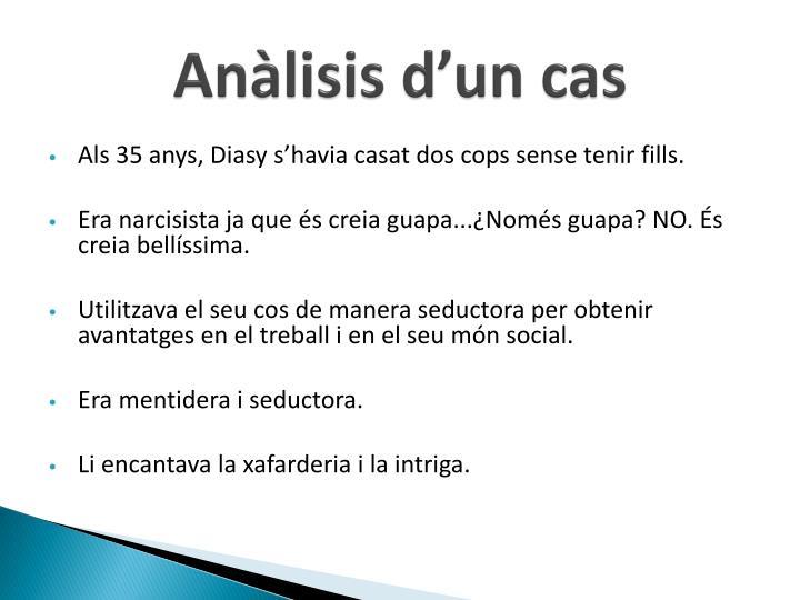 Anàlisis d'un cas