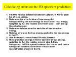 calculating errors on the fd spectrum prediction