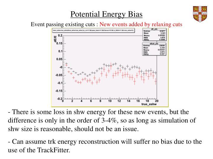Potential Energy Bias