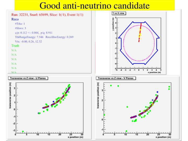 Good anti-neutrino candidate
