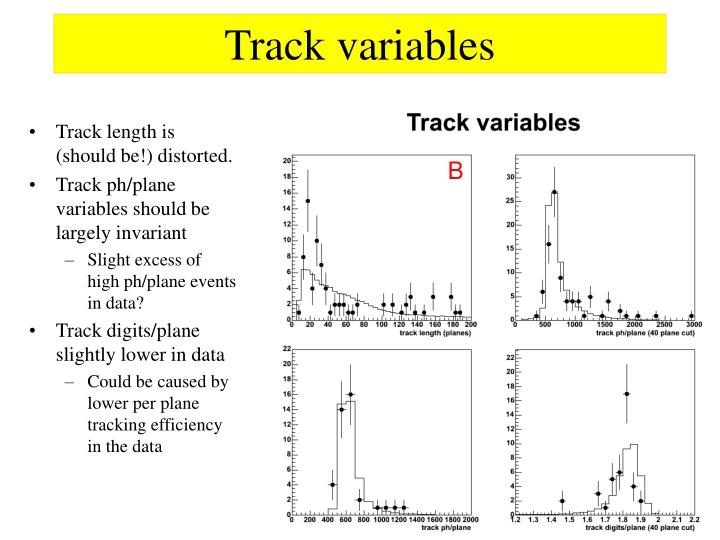 Track variables