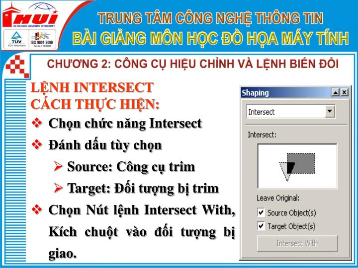 LỆNH INTERSECT