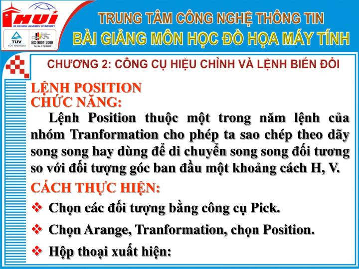 LỆNH POSITION