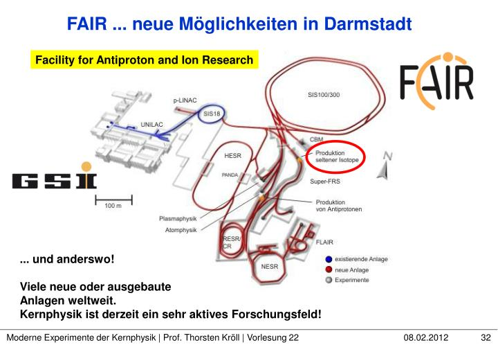 FAIR ... neue Möglichkeiten in Darmstadt