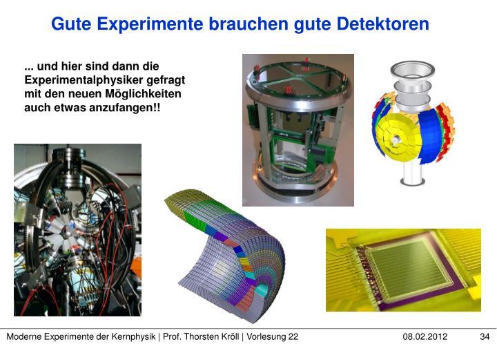 Gute Experimente brauchen gute Detektoren