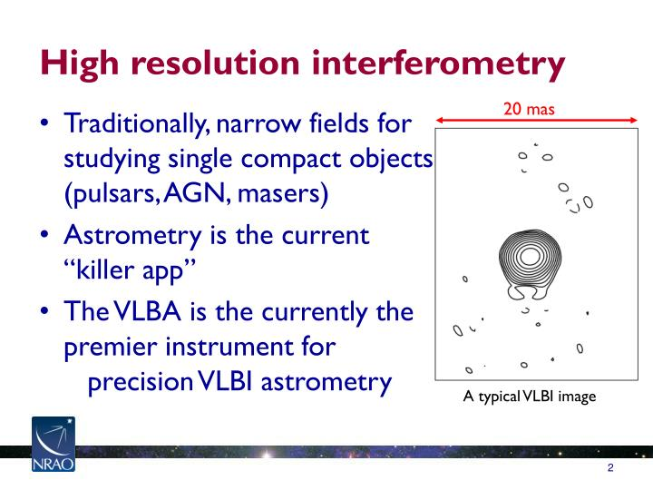 High resolution interferometry