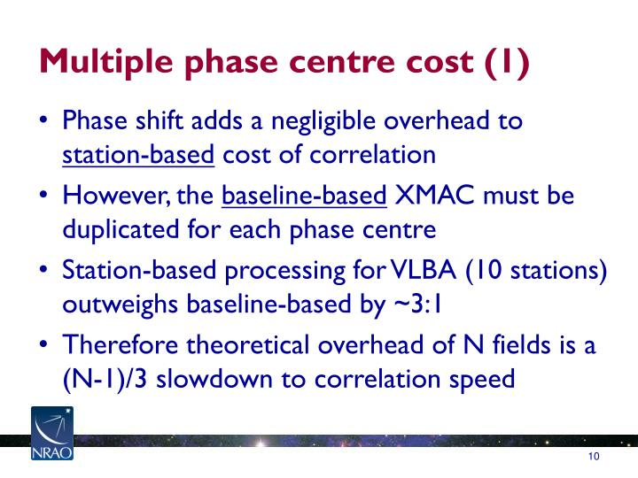 Multiple phase centre cost (1)