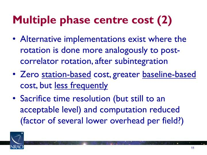 Multiple phase centre cost (2)