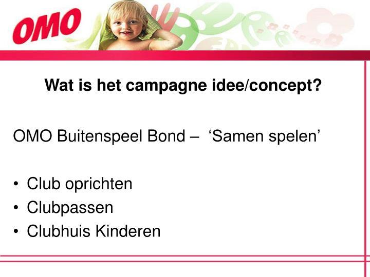 Wat is het campagne idee/concept?