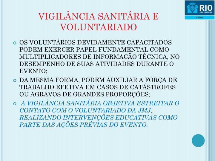 VIGILÂNCIA SANITÁRIA E VOLUNTARIADO