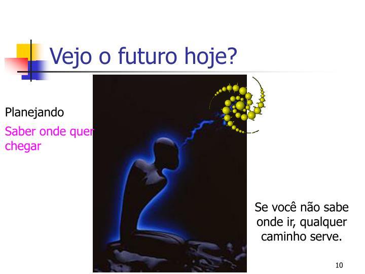 Vejo o futuro hoje?