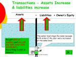 transactions assets increase liabilities increase