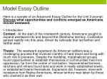 model essay outline