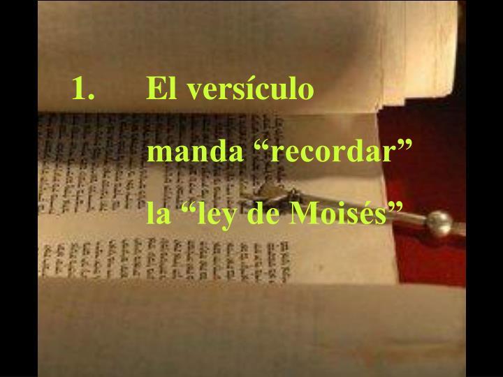 El versículo