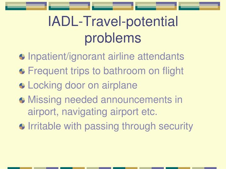 IADL-Travel-potential problems