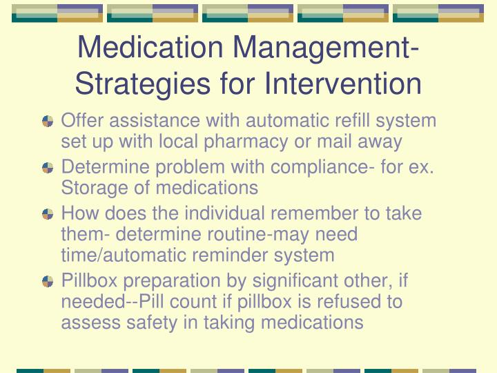 Medication Management- Strategies for Intervention
