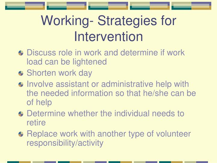 Working- Strategies for Intervention