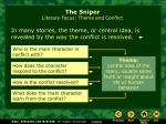 the sniper literary focus theme and conflict