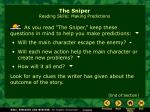 the sniper reading skills making predictions1