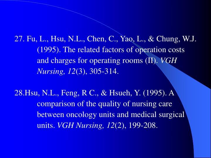 27. Fu, L., Hsu, N.L., Chen, C., Yao, L., & Chung, W.J.