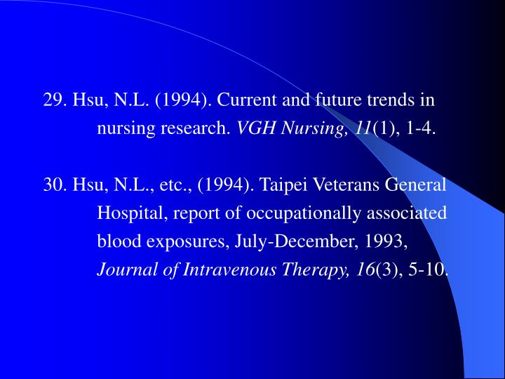 29. Hsu, N.L. (1994). Current and future trends in